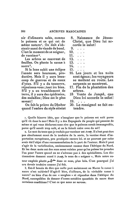 Calendrier Agricole Berbere Archives Marocaines Volume 03 1905 Page 314