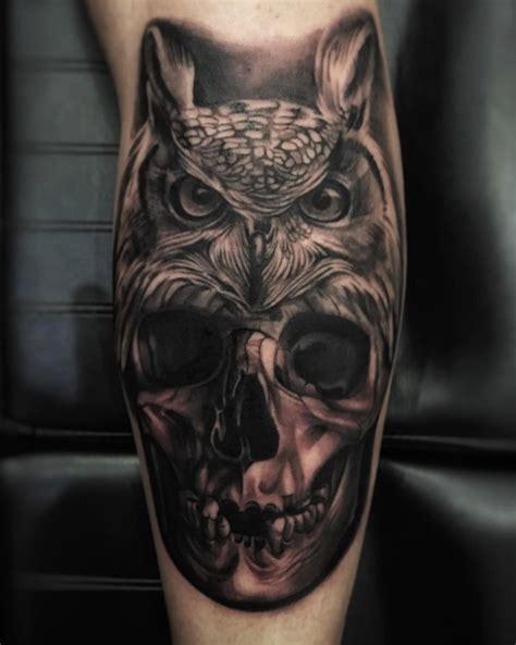 tattoo owl skull 40 perfect black and grey ink tattoos for men tattooblend
