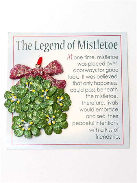 printable version of the legend of the christmas spider quot the legend of mistletoe quot ornament with story card