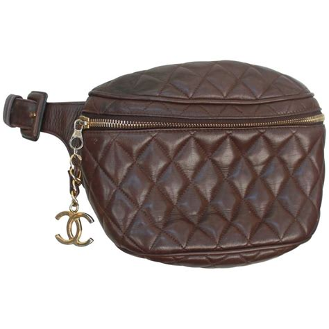 3 In 1 Chanel Brown chanel vintage brown quilted lambskin pack ghw