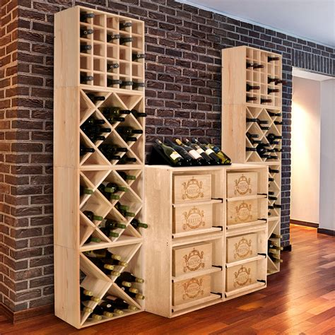 etagere aus holz cube 52 wine rack system untreated wood winerack plus co uk