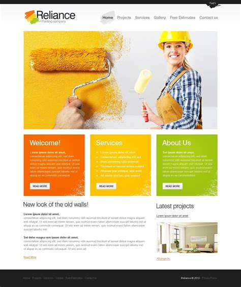 company page template painting company website template 29111