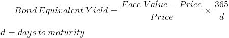 Bond Equivalent Yield Mba by Bond Equivalent Yield Formula And Calculator