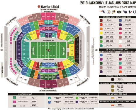 jaguars tickets seating chart everbank field seating view brokeasshome