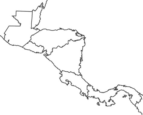 map outline of central america outline maps