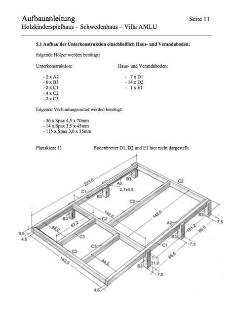 Spielhaus Bauen Anleitung by Spielhaus Bauplan Spielhaus Bauanleitung