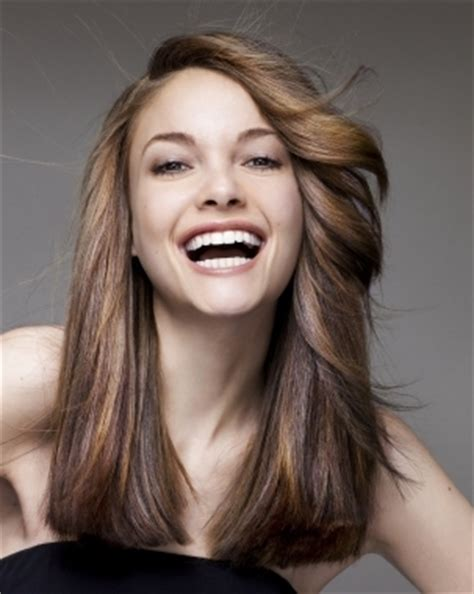 pictures of very long hair flipped at ends cool bangs hairstyles for teen girls