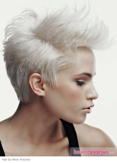 platinum blonde and brown on short hair for african american pictures short hairstyles short platinum blonde mohawk