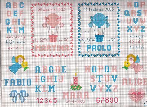 lettere alfabeto punto croce per bambini alfabeto per nascita bambini magiedifilo it punto croce