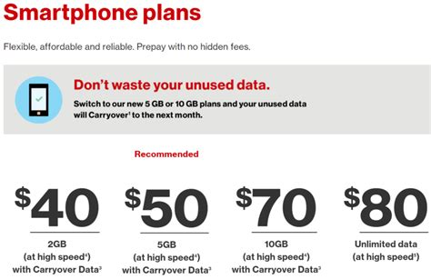 verizon s unlimited plan for prepaid is 80 brings