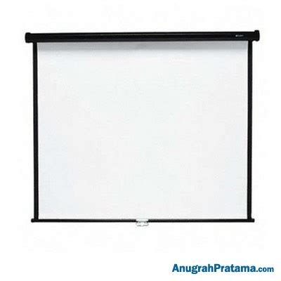 Layar Wall Projector brite manual screen mas2121 84 inch 213x213 cm layar