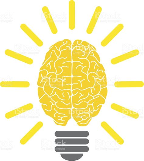 glã hbirnen lightbulb brain eureka stock vector 165605622 istock