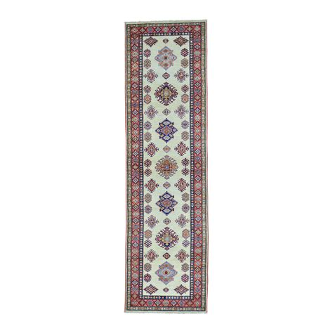 10 x10 wool rug 2 10 quot x10 kazak runner ivory knotted wool