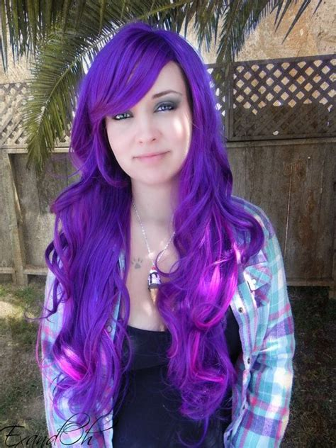 how to dye your hair neon purple 10 steps with pictures cut not color even though the color is awesome new