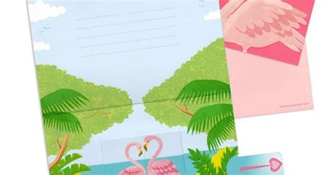 Flamingo Pop Up Card Template by Flamingo Moving Pop Up Card Free Printable Pattern And