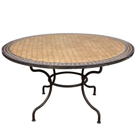Patio Tile Table Outdoor Mosaic Tile Table At 1stdibs