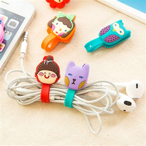 Animal Cable Winder 50pcs lot animals cable winder clip earphone winder