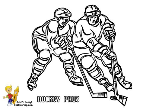 coloring pages of hockey players big freeze winter sports coloring yescoloring free