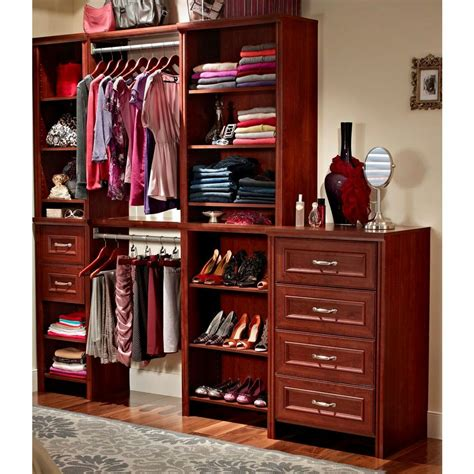 Deluxe Closet Organizer by Closetmaid Impressions 2 Quot Cherry Wide Deluxe Drawer