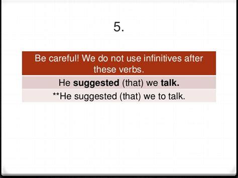 verb pattern insist unit 23 grammar notes