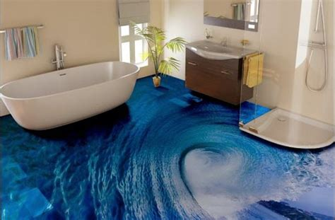 bathroom floor 3d art a complete guide to 3d epoxy flooring and 3d floor designs