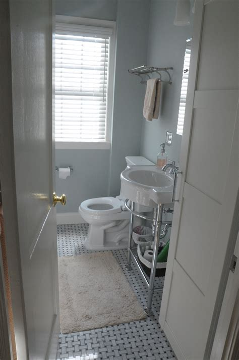 white bathroom interior design clean and neat small space