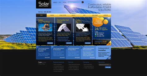 Solar Template Solar Energy Psd Template 54297