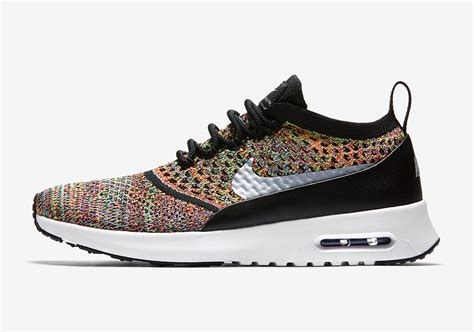 Nike Flyknit Airmax Multi Color nike air max thea flyknit multicolor 881175 600