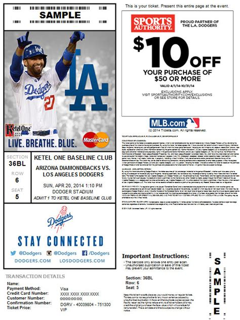 la dodgers tickets 28 images my dodgers tickets