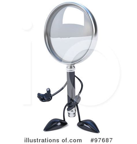 3d Magnifying Glass 3d magnifying glass clipart 97687 illustration by julos