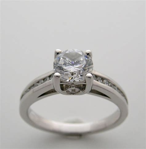 engagement ring setting classic simple details
