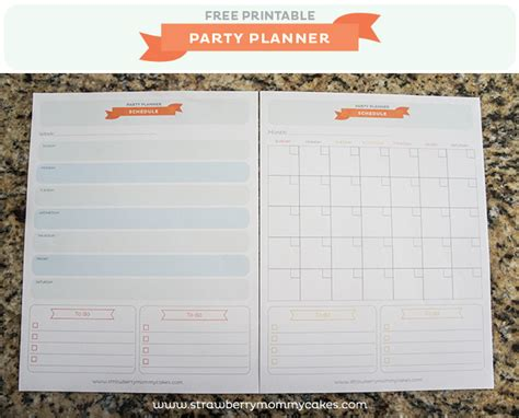 event planner free printable free party planner printable printable crush