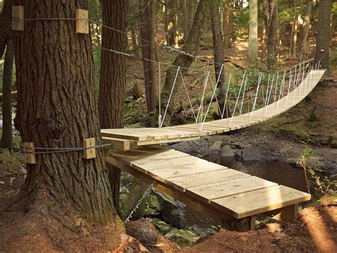 how to build a swinging bridge 25 best ideas about rope bridge on pinterest treehouse