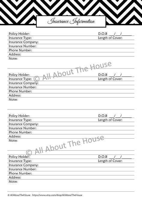 Information Sheet Printable