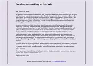 Anschreiben Bewerbung Zuruck Bewerbung Bei Berufsfeuerwehr Muster F 252 R Brandmeister Bewerbungsforum