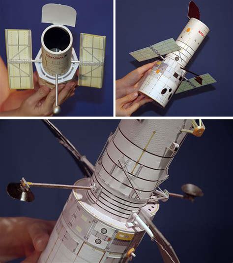 Paper Telescope Craft - how to build a model hubble space telescope make