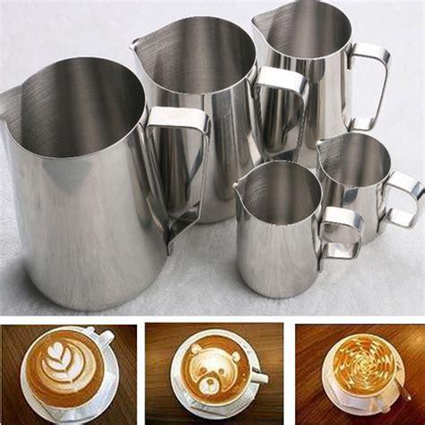 Milk Jug With Measurement Stem Jug 350ml stainless steel coffee milk frothing pitcher tasterich