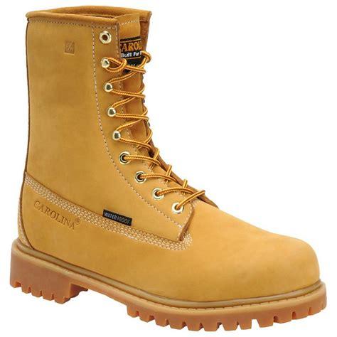 steel toe waterproof work boots s carolina 174 8 quot waterproof steel toe 200 grams