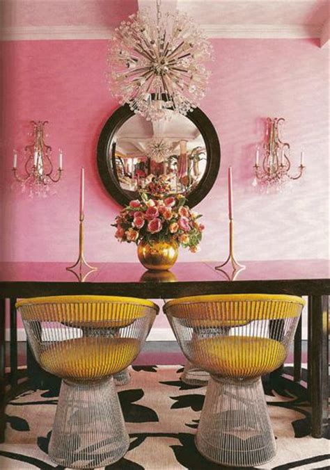pink dining room pink dining room eclectic dining room
