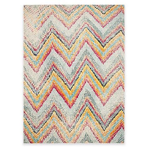 multicolor chevron rug buy safavieh monaco chevron multicolor 9 foot x 12 foot area rug from bed bath beyond