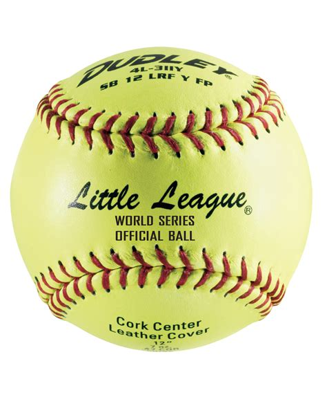 official little world of official little league world series fastpitch softball 12 pack gecko sports