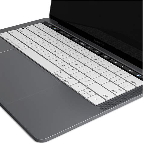 Keyboard Protector For Apple Macbook keyboard protector cover apple macbook pro touch bar white