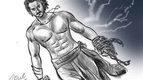 Bahubali 1 Sketches by Baahubali 2 Drawing Fan Digital Prabhas