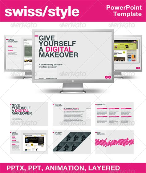 powerpoint templates nulled graphicriver swiss style powerpoint template
