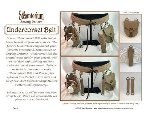 sewing pattern utility belt undercorset belt sewing pattern festival utility belt to