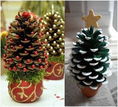wonderful pine cone christmas trees for you to craft