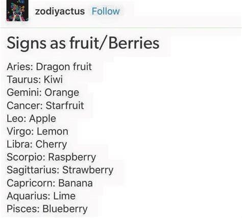 fruit zodiac signs signs as fruit berries zodiac zodiac signs
