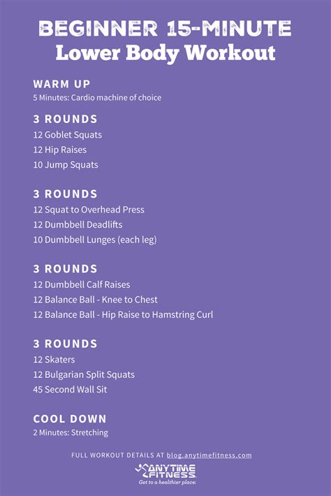 15 minute circuit beginner lower workout
