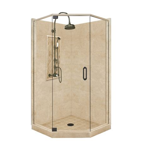 Corner Shower Kit shop american bath factory panel medium fiberglass and