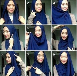 gambar tutorial hijab simple pashmina busana muslim trendy tutorial hijab pashmina kaos simple